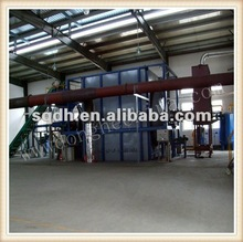 continuous waste tire oil refining machine with cap of 15-20T/D