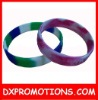 customized festival embossed colorful silicone bracelet