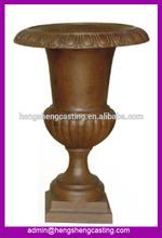 Hot sale decorative outdoor iron planter / cast iron flower pot