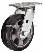 29 Heavy duty aluminum core rubber caster wheel