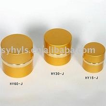 Empty Metal Plastic Cream Cosmetic Jar