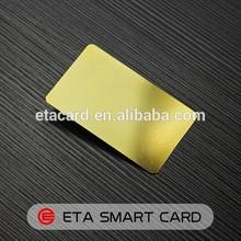 Laser cut metal business card blank