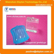 transparent plastic polycaprolactone prototype CNC machined prototype