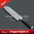 Vg-10 дамаск santoku нож шеф-повара с зеркальной отделкой