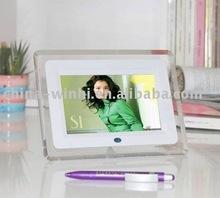 7 Inch Digital Photo Frame with LED light digital signage