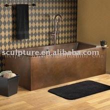antique rectangle copper bathtubs for hotel