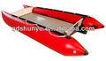 ( ce) material pvc piso de alumínio barco catamarãinflável