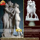 three beauty fair garden figure white famous marble sculpture RCO0040