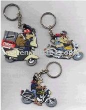customized auto motor shaped pvc key chain