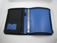 pp file folder metal 3 ring binders with zipper breifcase