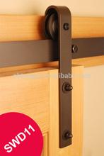 """72"""" barn door flat track hardware, sliding door hardware kits ,Wood Sliding Barn Door Hardware Set"""