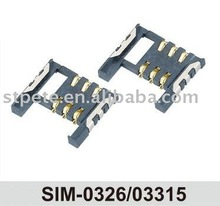 FOB China SIM-0326/03315 SIM CARD SOCKET For wireless phone/mobile,/card reader /GPS made in china
