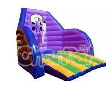 Purple inflatable pool basketball hoop 5mH