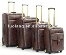 new PU trolley luggage