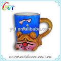 el perro de cerámica taza de diseño