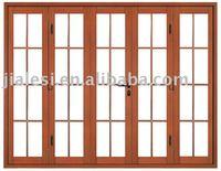 Folding screen door,Wooden glass door