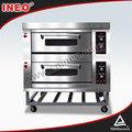 2 decks 4 bandejas móveis ao ar livre do gás forno/temperatura controlada fornos/mini gás forno