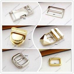 Metal bag buckle, adjustable buckle