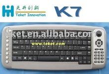 2.4G RF Wireless Keyboard for Multi-media-K7, 2.4G RF, Integrated Trackball Mouse