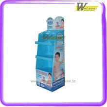 baby milk in supermarket color printing paper corrugated tier display rack