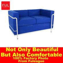 Leather furniture Le Corbusier Leather Sofa LC2 Sofa , design sofa price FA009
