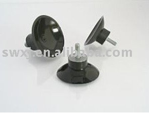 rubber black suction cups with threaded screw