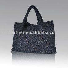 BD1081 women cloth fabric knitting lady bag shopping bag