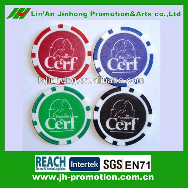 casino poker chips with sticker
