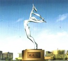 Modern Abstract Arts Figure Stainless steel Sculpture for outdoor decoration