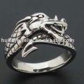 Bague fantaisie grand bronze, dragon, fuchur tribales. dragon,