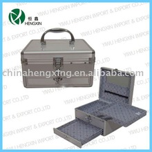 makeup box organizer chest fashion and beautiful aluminum cosmetic train makeup beauty case bag,maquillage makeup box organizer