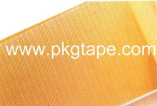 2014 good quality!!! Self adhesive double sided PE Fiberglass mesh tape with liner for foam lamination