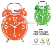 Colorful desktop clock, Fashion cheap alarm clock,quartz gift clock for promotional with light function