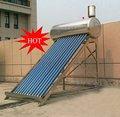 L'énergie solaire chauffe l'eau( vente chaude produit)
