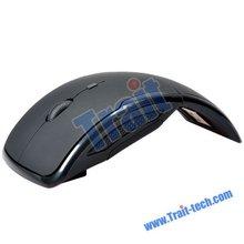 New Mini 2.4 GHz Wireless Optical Rex Mouse- Black