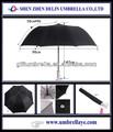 la publicité 2 fois parapluie avec logo personnalisé
