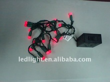 led christmas lights led decorative light Red LED Battery string light,