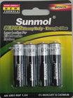 Zinc Carbon R6 AA UM2 1.5V Battery
