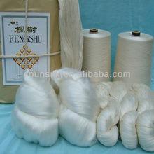 Pure silk yarn for weaving