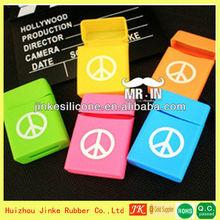 manufacturer offer 16 colors silicone cigarette case,waterproof cigarette case
