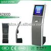 17Inch touch screen wireless queue management system kiosk/ruize queue machine/queue ticket dispenser machine