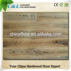 Foshan smoked solid oak wooden flooring
