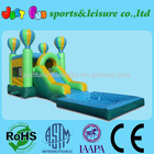 balloon jumping castle water slide combo with pool