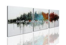 100% handmade 3 panel canvas wall art