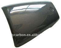Carbon fiber seat cover for motorcycles