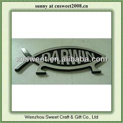 DARWIN Fish Adhesive Plastic Car Emblem