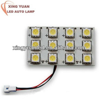 atuo led light led car roof light 12SMD atuo lamp/ T10 BA9S 12SMD LED Festoon Interior Light Dome Bulb Adapter Lamp White Car