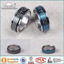 2012 catholic men stainless steel rosary ring