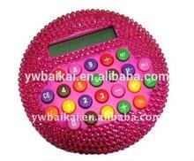 portable novelty crystal round calculator