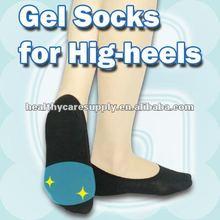 Thenar pressure-reduced invisible gel socks